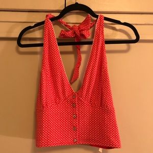 Free People Red Halter Top
